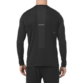 asics Seamless LS Texture Maillot Hombre, performance black
